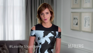 Emma Watson supports #LeanInTogether
