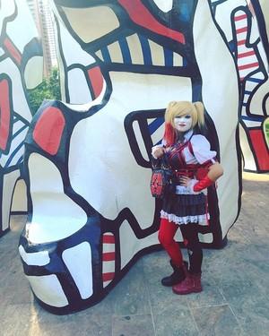Harley quinn akrham knight cosplay