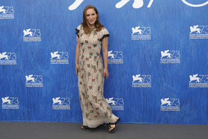 Attending the 'Jackie' photocall at the 73rd Venice Film Festival at Venice Lido (September 7th