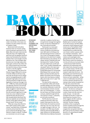'Looking Back at Bound' Feature in Diva Magazine - September 2016