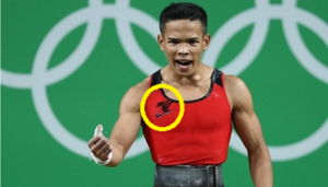 [Media] Fairy Tail represented at the Olympics da Weightlifter Nestor Colonia.