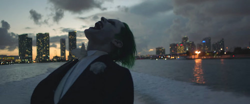 Suicide Squad 壁紙 with a business district and a 通り, ストリート called 'Purple Lamborghini' 音楽 Video - The Joker