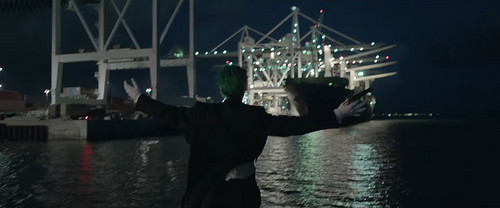 Suicide Squad fondo de pantalla probably containing a car ferry and a business district titled 'Purple Lamborghini' música Video - The Joker
