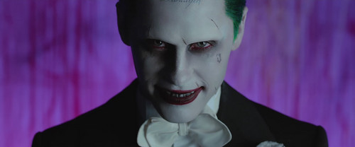Suicide Squad দেওয়ালপত্র probably containing a well dressed person, a business suit, and a portrait called 'Purple Lamborghini' সঙ্গীত Video - The Joker