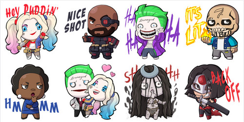 Suicide Squad wallpaper with anime titled 'Suicide Squad' Facebook Stickers