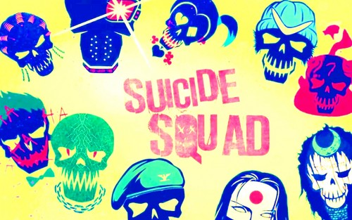 Suicide Squad wallpaper possibly with a sign titled 'Suicide Squad'