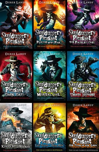 Skulduggery Pleasant fondo de pantalla possibly containing anime entitled SP book collection