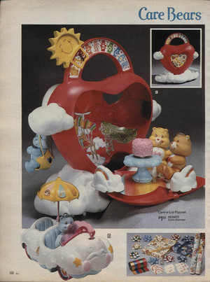 A Care Bears Playset Advertisement from the 80's