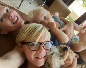 A.J. Cook, and her sons, Mekhai Andersen and Phoenix Andersen