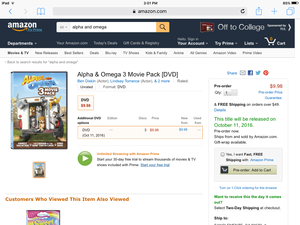 Alpha and omega movie pack 2