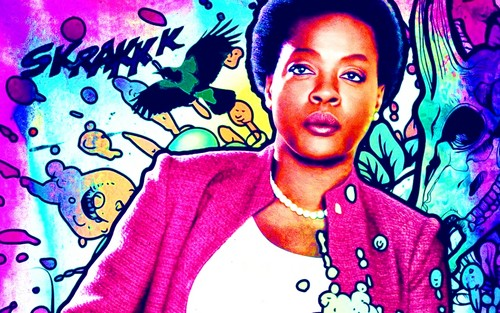 Suicide Squad wallpaper probably containing anime entitled Amanda Waller