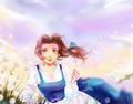 Anime Version of Belle - childhood-animated-movie-characters fan art