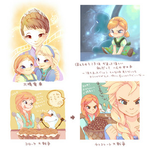 Anna, Elsa and queen Iduna