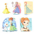 Anna - elsa-and-anna fan art