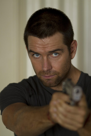 Antony Starr as Lucas kap, hood in 'Banshee'