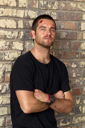 Antony Starr wallpaper probably with a bricks and mortar entitled Antony Starr as Lucas kap, hood in 'Banshee'