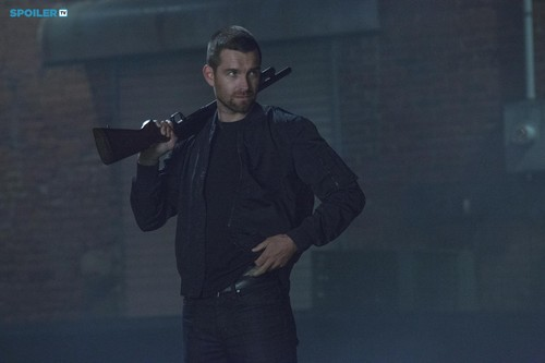 Antony Starr wallpaper probably with a business suit and a well dressed person titled Antony Starr as Lucas capuz, capa in 'Banshee'