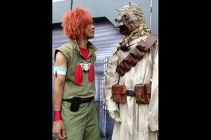 """Apollo and the Tusken: """"Lost something, buddy?"""""""