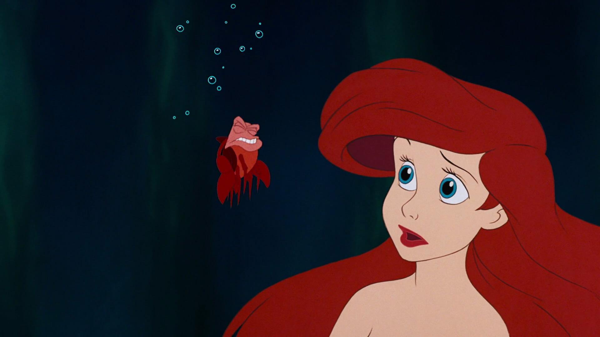 Walt Disney Screencaps - Sebastian & Princess Ariel