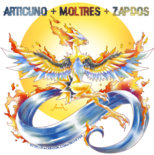Articuno Zapdos and Moltres combined