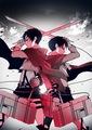 Attack On Titan - Levi and Eren  - anime photo
