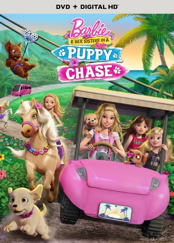 Barbie-Filme Hintergrund entitled Barbie & Her Sisters in A welpe Chase Official DVD Cover (HD Quality)