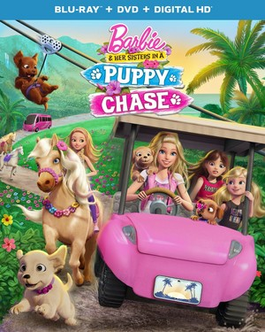 Barbie & Her Sisters in A puppy Chase Official Blu-ray Cover (HD Quality)