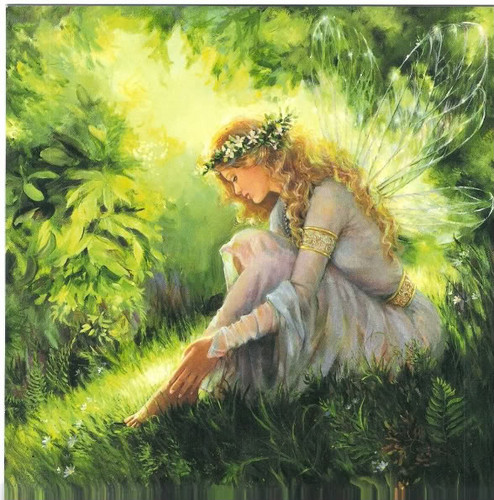 পরী দেওয়ালপত্র possibly with a sign called Beautiful Fairy Painting