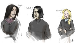 Bellatrix, Narcissa, and Snape