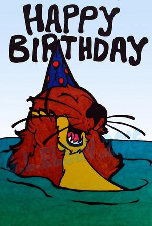 Birthday Otter Card