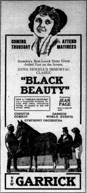 Black Beauty (1921) Poster