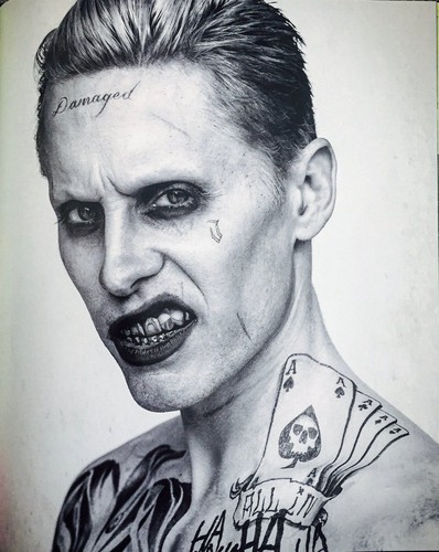 Suicide Squad wallpaper probably with a portrait titled Black and White Portrait - The Joker