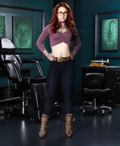 Ink Master wallpaper containing a hip boot and long trousers called Carolyn Elaine | Ink Master: Peck vs Nuñez