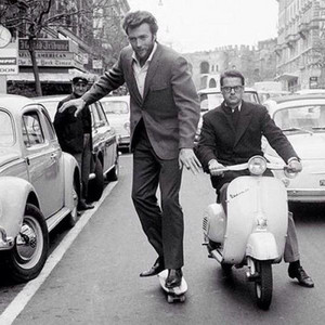 Clint Eastwood Skateboarding in Rome 1965