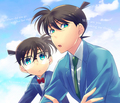 Conan and Shinichi - detective-conan fan art