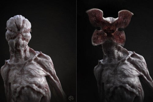 Stranger Things 壁紙 called Concept Art: Demogorgon