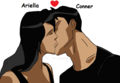 Conner and Ariella becomes new couples - young-justice-ocs fan art