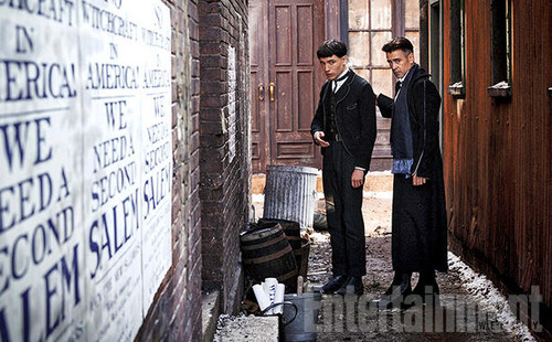 Fantastic Beasts and Where to Find Them wallpaper containing a business suit, a street, and a penal institution called Credence Barebone and Percival Graves