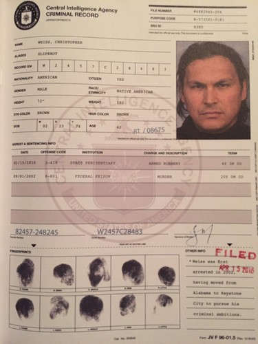 Suicide Squad 壁紙 titled Criminal Record: Christopher Weiss