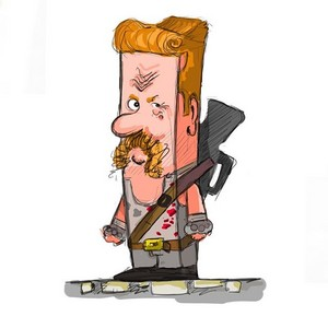 Cubic caricature The Walking Dead fã art