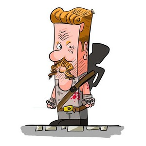 Cubic caricature The Walking Dead fan art
