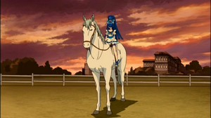Cure Aqua on horseback