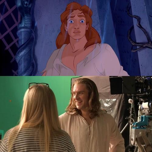 princesas de disney fondo de pantalla titled Dan Stevens as Prince Adam