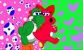 Dino Love - yoshi fan art