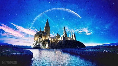 Harry Potter پیپر وال entitled Disney Logo Hogwarts