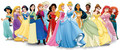 डिज़्नी Princesses with Anna, Elsa & Elena