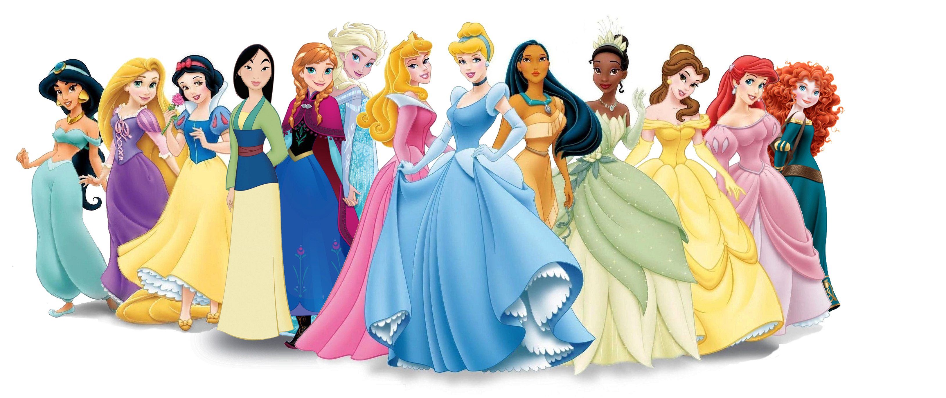 Disney Princesses with Anna & Elsa
