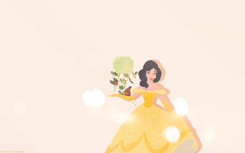 Disney Princess پیپر وال containing a bouquet called Dress Swap - جیسمین, یاسمین