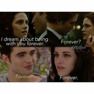 "Edward and Bella ""forever"""