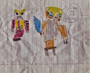 Eli's Stampy Drawing